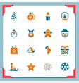 christmas icons - in a frame series vector image vector image
