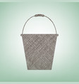bucket sign for garden  brown flax icon on vector image
