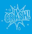 crash explosion bubble icon outline style vector image