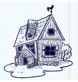 doodle house vector image