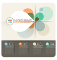 Four Petal Shape Abstract Design Layout vector image