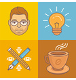 graphic designer icons and signs vector image