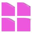 Magenta Paper Curled Corner vector image