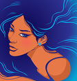 Marine style tanned girl vector image