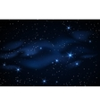 Milky way galaxy with stars vector image