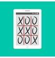 Tic-tac-toe game mobile app concept vector image