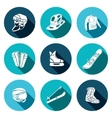 Winter sports icon collection vector image