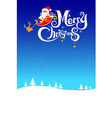 023 Merry Christmas santa and night background 003 vector image