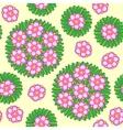 seamless circular floral pattern vector image