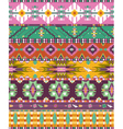 Seamless colorful aztec geometric pattern with bir vector image