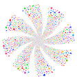 valentine petals fireworks swirl rotation vector image
