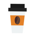 take out drink cup vector image