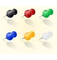 push pin set vector image