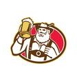 Bavarian Beer Drinker Mug Retro vector image