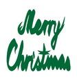 Merry christmas ribbon1 resize vector image