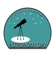 Astronomy Day vector image