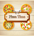 colorful italian food concept vector image