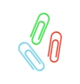 Colorful paper clips vector image