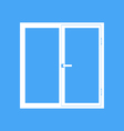 Plastic window on a blue background vector image