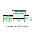 Responsive web design concept Website page vector image