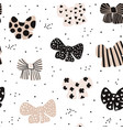 seamless hand drawn pattern with bows fashion vector image