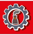 signal of reactor isolated icon design vector image
