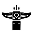 totem - native american icon vector image