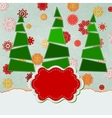 Christmas Trees Card vector image