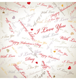 Valentines day card background vector image vector image