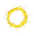 orange juice splash circle vector image