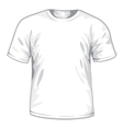 white tshirt vector image