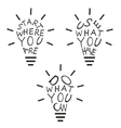 Light bulbs from quotes vector image