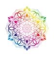 Spectral Flower Mandala Over White vector image