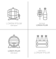 Beer logos design vector image