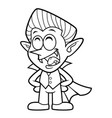 black and white cartoon funny dracula mascot vector image