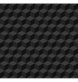 Black geometric seamless background vector image
