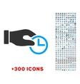 Clock Properties Icon vector image