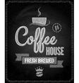 coffee menu design chalkboard background vector image