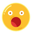 emoji of astonishment in flat design icon vector image