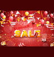 hot summer sale banner paper text design vector image