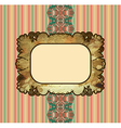 obsolete royal gold frame design element vector image