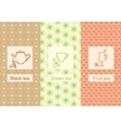 Set linear tea package ornamental vector image