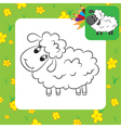 sheep coloring page vector image