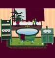 cartoon flat bathroom interior vector image