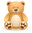 Brown bear toy vector image vector image