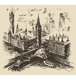 London England vintage hand drawn sketch vector image