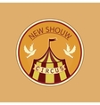 Hand drawn circus lable vector image