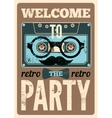 Typographical Retro Party poster vector image