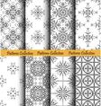 Backgrounds Floral Patterns Set vector image