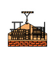 brick and scaffold vector image